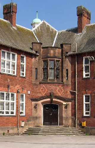 entrance to Long Eaton Grammar School building